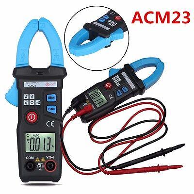 600v Digital Pocket Clamp Meter Multimeter Amps Ac Dc Current Volt Ohm Tester