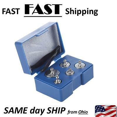 5pcs 50g 20g 10g 5g Grams Precision Chrome Calibration Scale Weight Set Kit