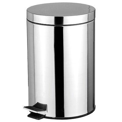 Stainless Steel 5 Liter Foot Pedal Kitchen Office Waste Bin Garbage Trash (Steel Kitchen Pedal Bin)