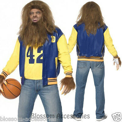 Teen Wolf Halloween Costumes (CL210 Licensed Mens Teen Wolf 1980s Movie Fancy Dress Costume Halloween)