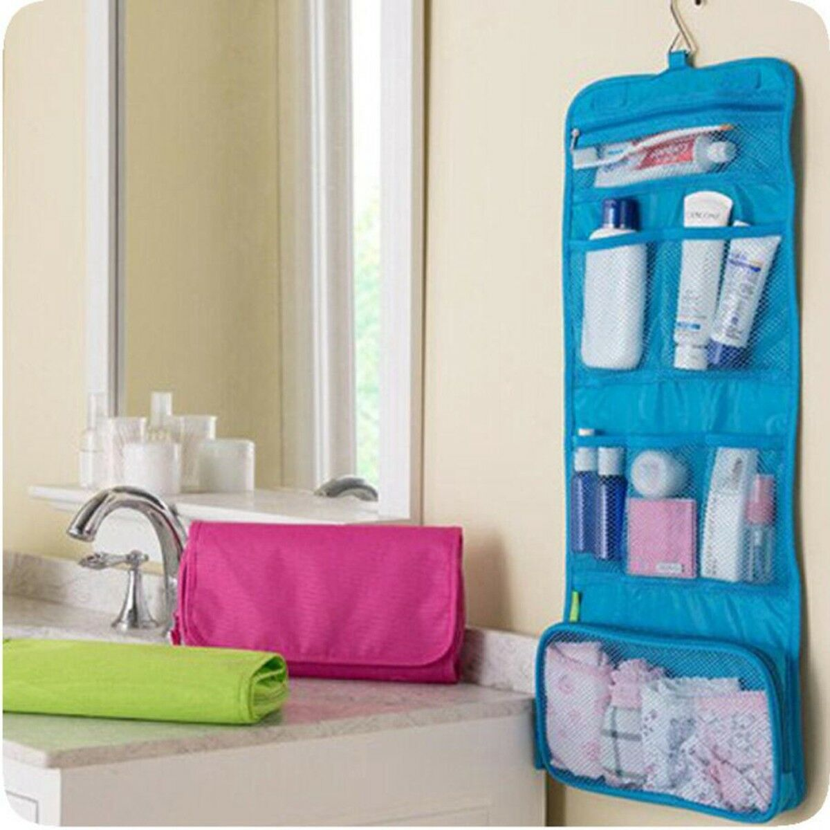 Travel Makeup Cosmetic Bathroom Toiletry Wash Shower Storage