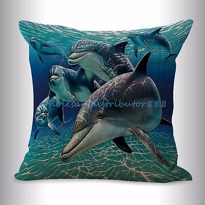 Us Seller  Sealife Marine Nautical Dolphin Ocean Animal Cushion Cover Online