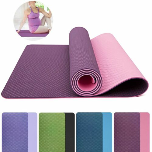 """72"""" Thick Yoga Mat Gym Camping Non-Slip Fitness Exercise Pilates Meditation Pad 3"""