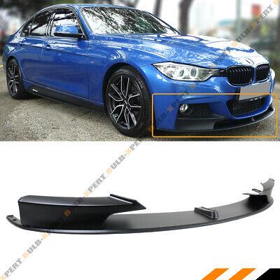 For 12-18 BMW F30 F31 Sedan Wagon M Performance Style Front Bumper Lip Splitter