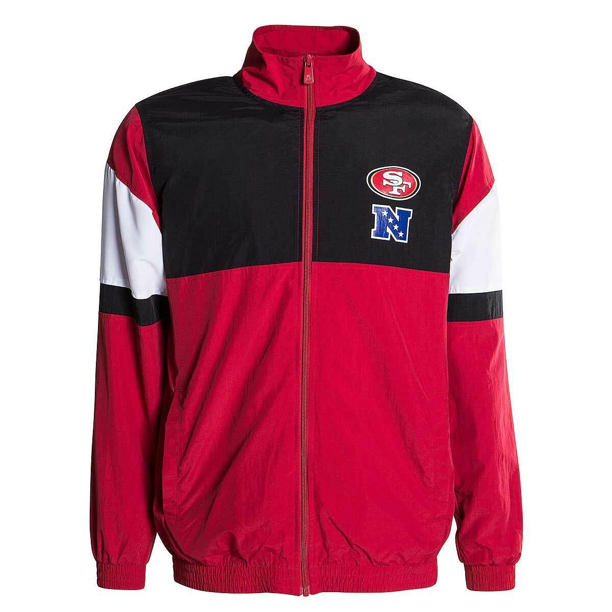 GIUBBINO NEW ERA JACKET NFL FOR SAN FRANCISCO 49ERS SAF49E ROSSO NERO GIACCA