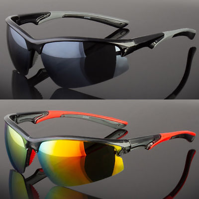 Half Frame Cycling Baseball Water Sport Sunglasses Outdoor Wrap Around Glasses - Glass Outdoor Frame