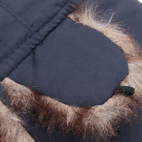 Men Aviator Hat Trooper Faux Fur Lining With Ear Flaps Ski Cap