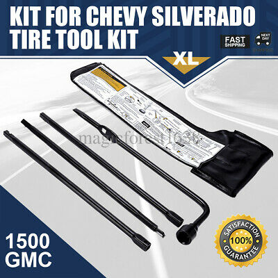 Spare Tire Lug Wrench Jack Tool Kit for Chevy Silverado 1500 GMC Sierra Yukon US