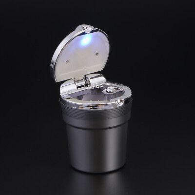 LED Beleuchtet Tragbarer KFZ Auto Aschenbecher Windaschenbecher Zubehör