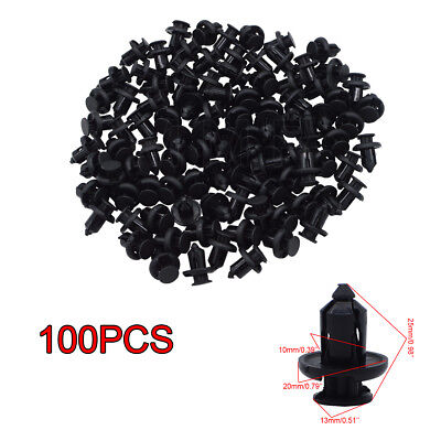 100Pcs 10mm Clips Bumper Hood Fender Retainer Fasteners for HONDA Odyssey Acura