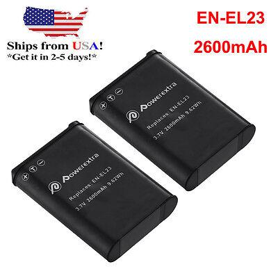 2 Pack EN-EL23 Battery for Nikon Coolpix B700 P900 S810c P610 P600