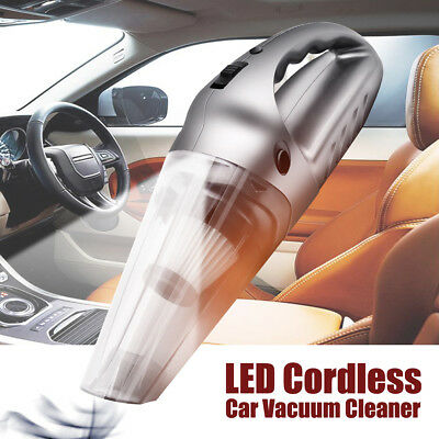 120W High Power LED Cordless Vacuum Cleaner Car Home Wet/ Dr