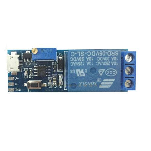 5V-30V Delay Relay Timer Module Trigger Delay Switch DIY Micro USB Module stable