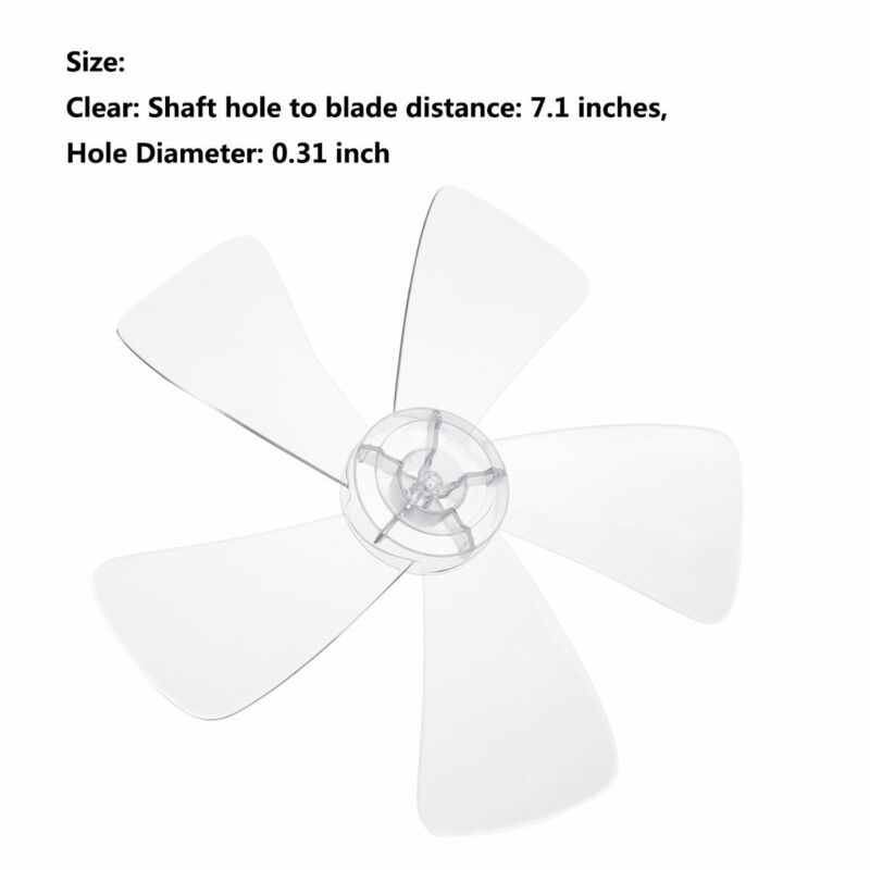 Universal Plastic Fan Blade 3//5 Leaves Stand//Table Fanner Replacement Durable