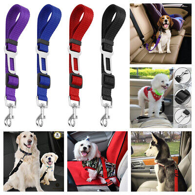 2 Pack Cat Dog Pet Safety Seat belt Clip for Car Vehicle Adjustable Harness Lead ()