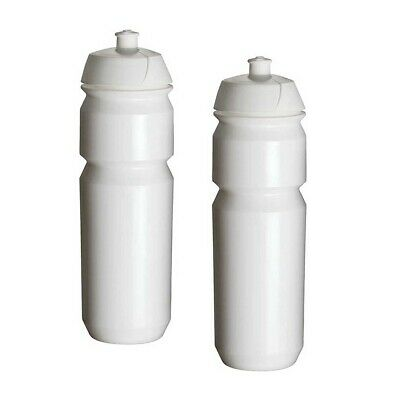 Tacx Shiva Cycling Water Bottles – 750ml, Plain White (2 Pack) (Plain Water Bottles)