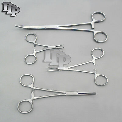 HEMOSTATS / FORCEPS 4 pc set 3-1/2