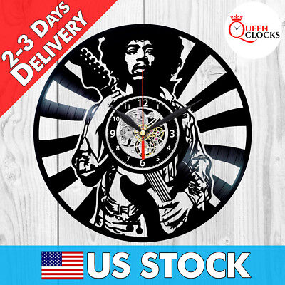 Jimi Hendrix Rock Vinyl Record LP Wall Clock Home Art Decor Birthday Gift Idea](Birthday Wall Ideas)