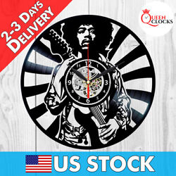 Jimi Hendrix Rock Vinyl Record LP Wall Clock Home Art Decor Birthday Gift Idea