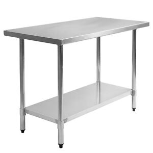 New Stainless Steel Commercial Kitchen Work Food Prep Table - 30