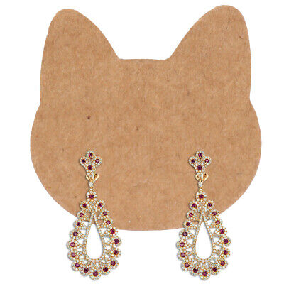 400 Pcs Diy Display Cat Ear Shape Jewelry Card Earring Holder For Home