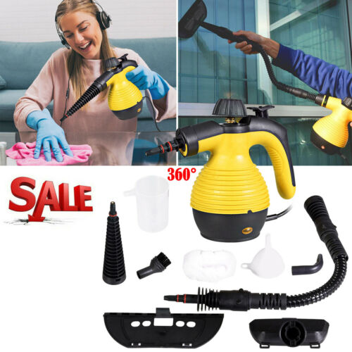 1050W Portable Steam Cleaner Handheld Steamer for Household Car Cleaning New