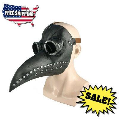 Plague Doctor Bird Mask Long Nose Beak Steampunk Medieval Costume Party Gifts