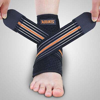Adjustable Ankle Support Brace Compression Sleeve Sports Joint Foot  Gym LF&RT