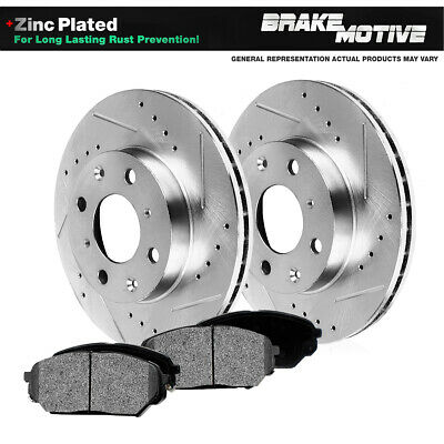 Front Brake Rotors And Metallic Pads For 1998 - 2002 Chevy Prizm Toyota Corolla