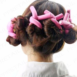 24x Soft Bendy Rollers Foam Hair Curlers Twist Salon Quality Curls Waves Styling