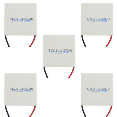 5 Pcs Tec1-12708 Heatsink Thermoelectric Cooler Cooling Peltier