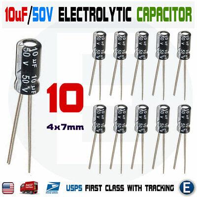 10 uF @ 100V Nichicon UVZ VZ electrolytic capacitor 6.3mm x 11mm
