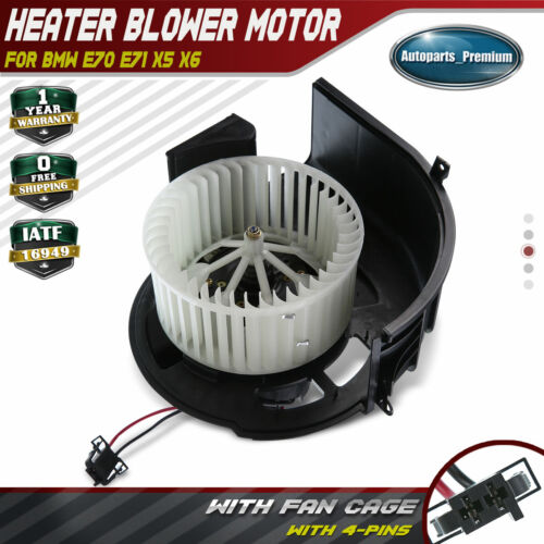 HVAC Blower Heater Motor With Fan Cage For BMW X5 X6 E70