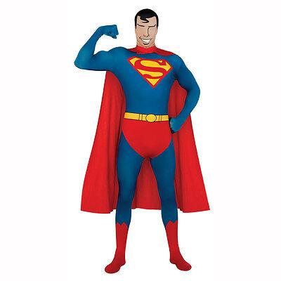 Superman - 2nd Skin Full Body Spandex Zentai Jumpsuit Adult Unitard - Superman 2nd Skin Kostüm