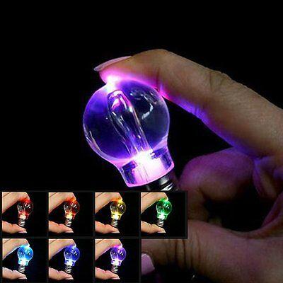 Light Bulb Rings - Mini Color Changing LED Flashlight Light Bulb Lamp Key Ring Keychain Lamp Torch
