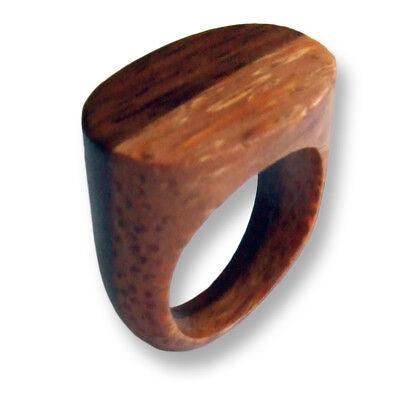 Zwei 2 Holz (2 Colour Zweifarbiger Holzring Ring Holz Wood Natur Schmuck Design AR039)