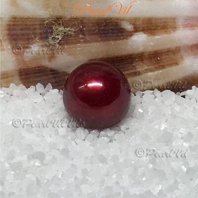 Christmas Red Pearl Akoya - Quality AAA Large 7-8mm - Located USA