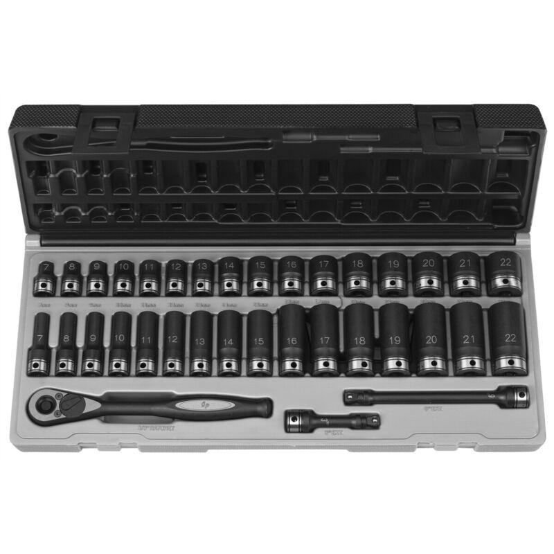 "Grey Pneumatic 81635mrd 3/8"" Dr. 35pc Metric Std & Deep Duo-socket Set - 6"