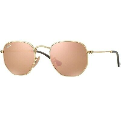 NEW RAY-BAN HEXAGONAL SUNGLASSES Gold Frame / Copper Flash Lenses (Ray Ban Sunglasses Frames)