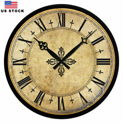 New Wooden Wall Clock Home Room Decor Retro Vintage European Style 15 Large