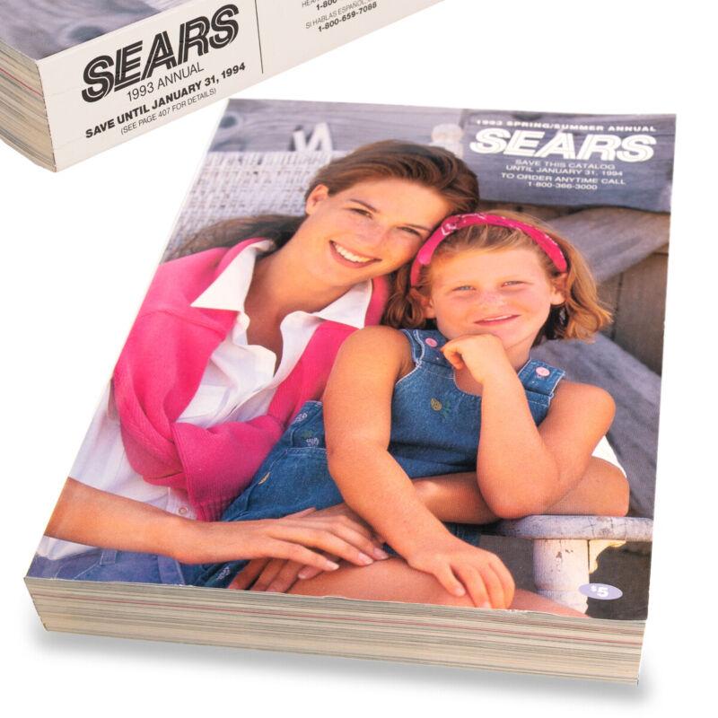 1993 SEARS Catalog - Last Printed Big Book, Original Collectible!
