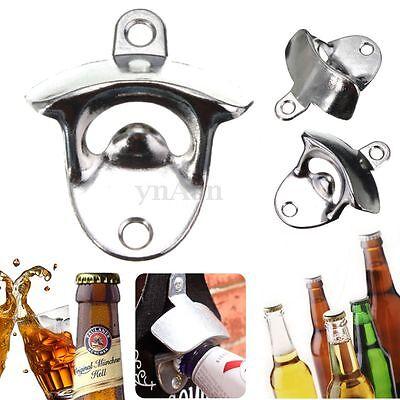 Wall Mount Open Wine Beer Soda Glass Cap Bottle Opener Kitchen Bars Club Gifts