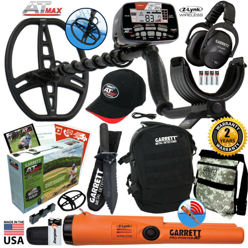 Garrett AT MAX Waterproof Detector with Pro Pointer AT Z-Lynk, Daypack, Digger