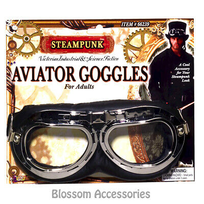 A992 Steampunk Aviator Glasses Gothic Victorian Halloween Costume Accessory