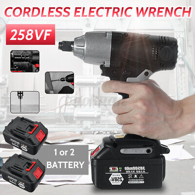 Cordless Brushless Electric Impact Rechargeable Wrench Screwdriver Power Tool