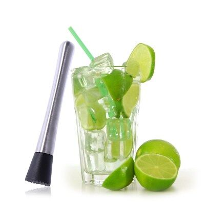 21 cm Edelstahl Cocktail Caipirinha Stößel Löffel Muddler Barzubehör Mixer Crush Bar Löffel
