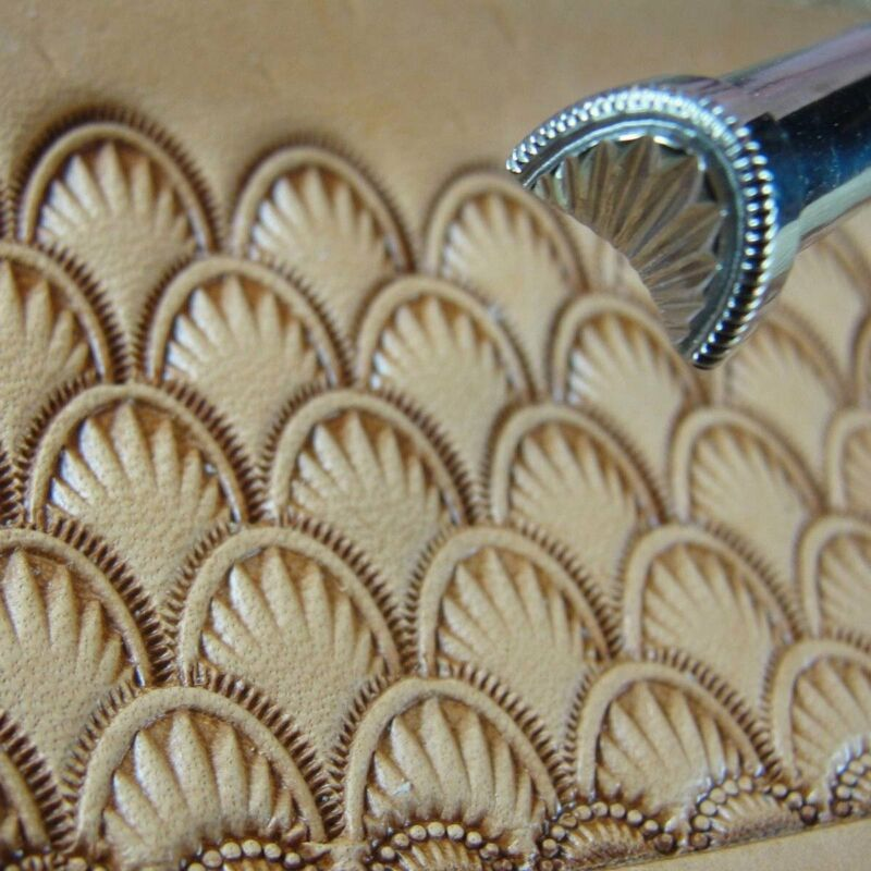 Stainless Steel Barry King - #2 Crescent Shell Geometric Stamp (Leather Tool)