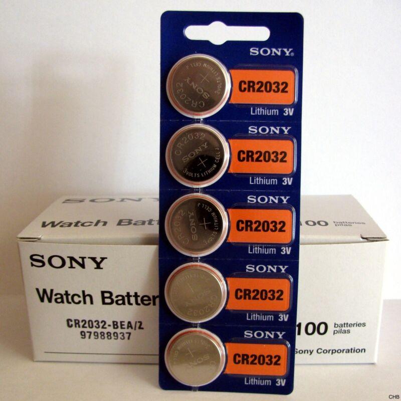 6 NEW SONY CR2032 3V Lithium Coin Battery Expire 2027 FRESHLY NEW - USA Seller