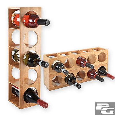 Bambus Weinregal Flaschenregal Flaschenständer Weinschrank Weinflaschenständer