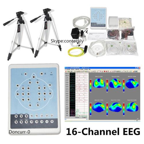 Digital Brain Electric Activity Mapping EEG Machine 16 Channel Software Analyzer